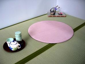 カワコー(川村興産株式会社)「円形ヘリナシ置き畳(畳座布団)」